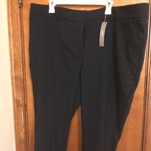 LOFT plus ankle pants.  Navy.  NWT